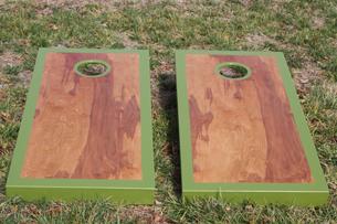 army green custom cornhole boards by the cornhole guy - Custom Corn Hole Boards